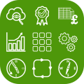 Logo of apps, systems, workflows, getting found on-line, financial spreadsheets, saving time, demonstrating expertise growing your business and having direction - green h provides apps and systems